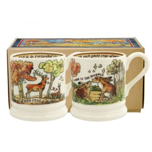 In The Woods Set Of Two Half Pint Mugs