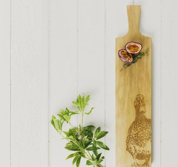 Long Duck Oak Serving Paddle Scottish Oak