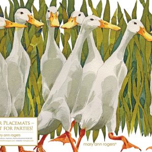 Paper Placemats Indian Runner Ducks - Mary Ann Rogers