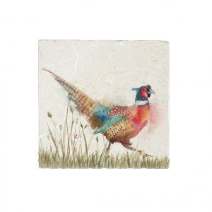 Pheasant in Grass Medium Platter - Country Companions by Kate of Kensington