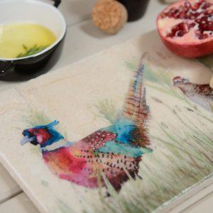 Pheasant in Grass Sharing Platter - Kate of Kensington