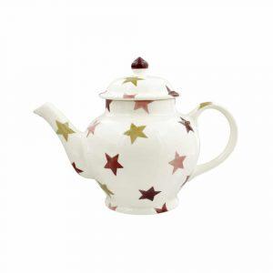 Emma Bridgewater Pink & Gold Stars 3 Mug Teapot