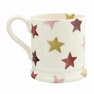 Emma Bridgewater Pink & Gold Stars Half Pint Mug