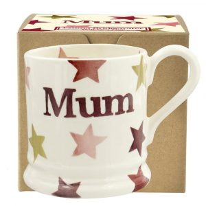 Emma Bridgewater Pink & Gold Stars Mum Half Pint Mug