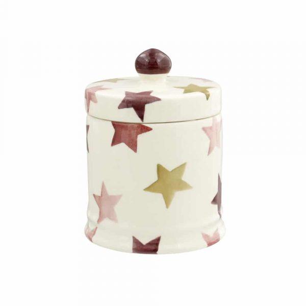 Emma Bridgewater Pink & Gold Stars Small Lidded Candle
