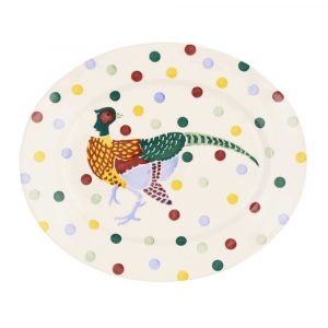 Emma Bridgewater Polka Dot Pheasant Medium Oval Platter