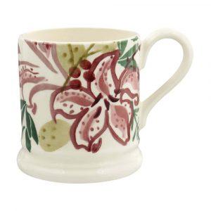 Emma Bridgewater Red Stargazer Lily Half Pint Mug