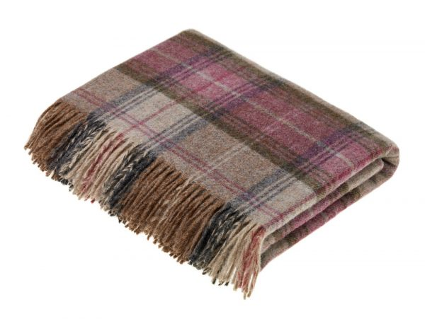 Shetland Stroud Throw - Heather - Bronte by Moon