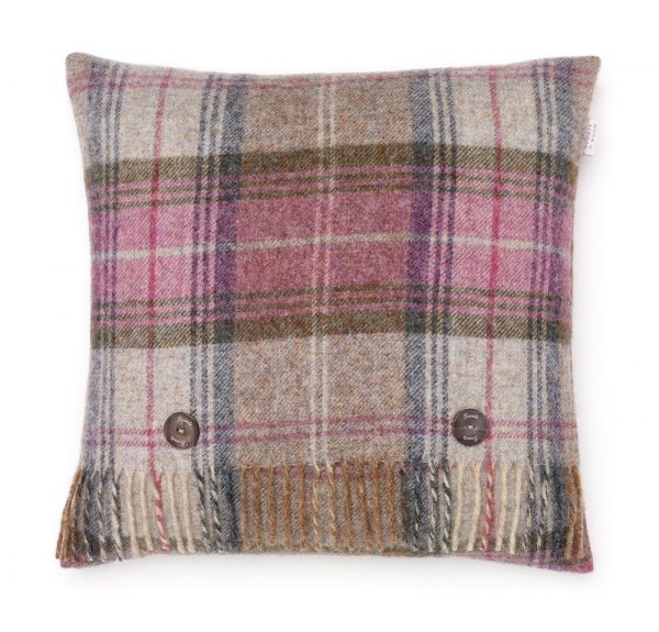 Shetland Stroud Cushion - Heather - Bronte by Moon
