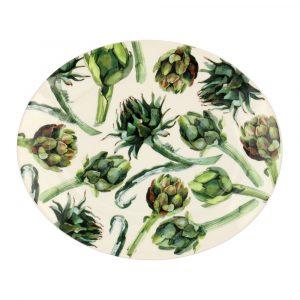 Vegetable Garden Artichoke Large Oval Platter