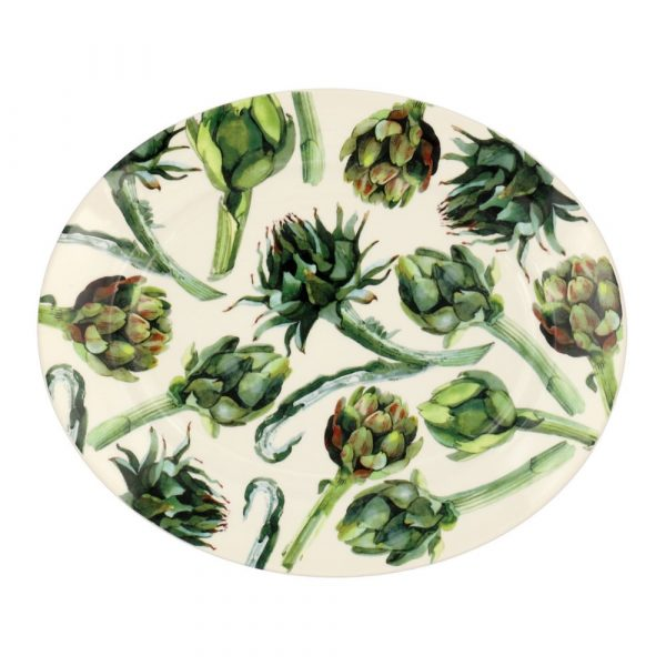Vegetable Garden Artichoke Large Oval Platter