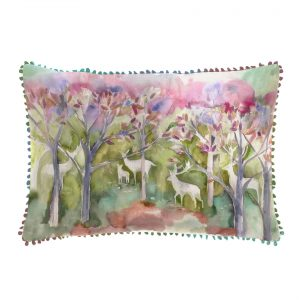 Seneca Forest Spring Cushion - Made in Scotland