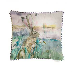 Morning Hare Cushion - Made in Scotland