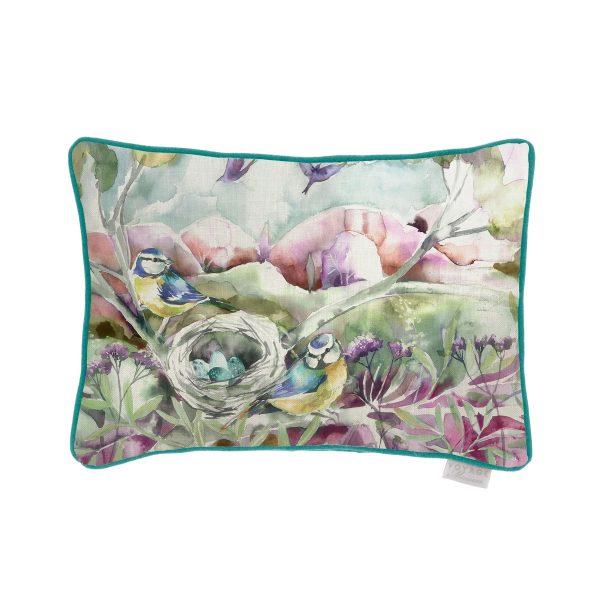 Birds Blush Cushion - Made in Scotland