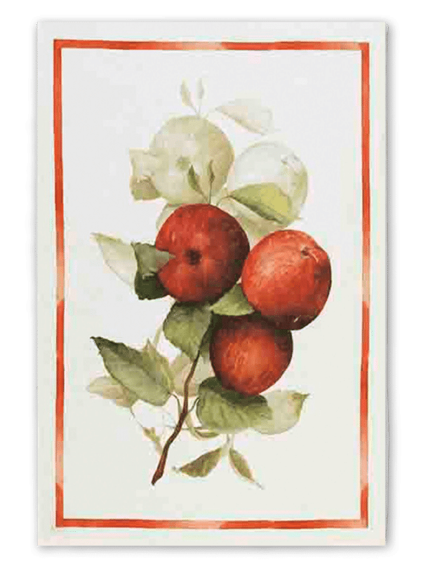 Apples - Linen Tea Towel - Made in Italy