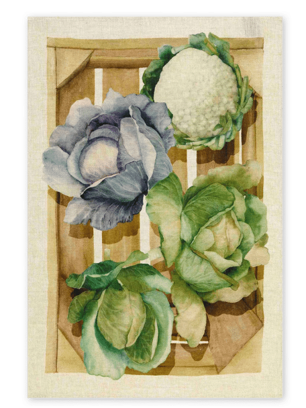 Cabbages - Linen Tea Towel - Made in Italy