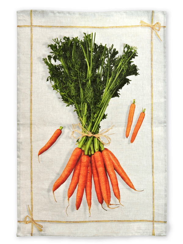 Carrots - Linen Tea Towel - Made in Italy