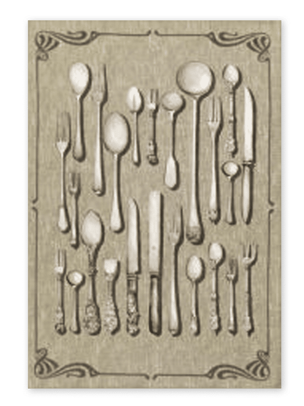 Cutlery - Linen Tea Towel - Made in Italy