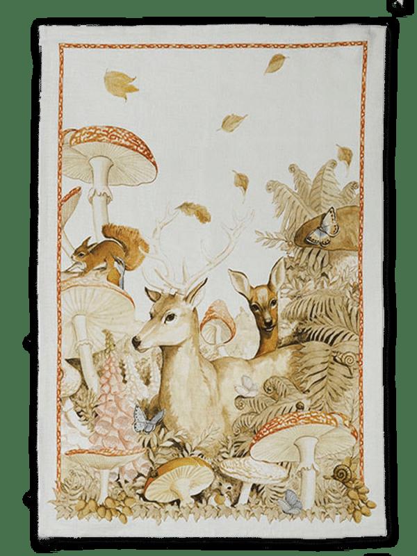 Deer - Linen Tea Towel - Made in Italy