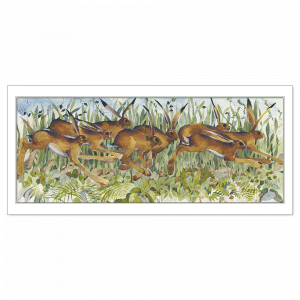 Drove of Hares - Signed, Limited Edition Print by Mary Ann Rogers