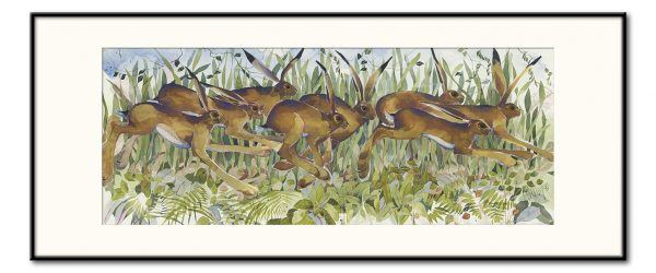 'Drove of Hares' - Signed, Limited Edition Print by Mary Ann Rogers