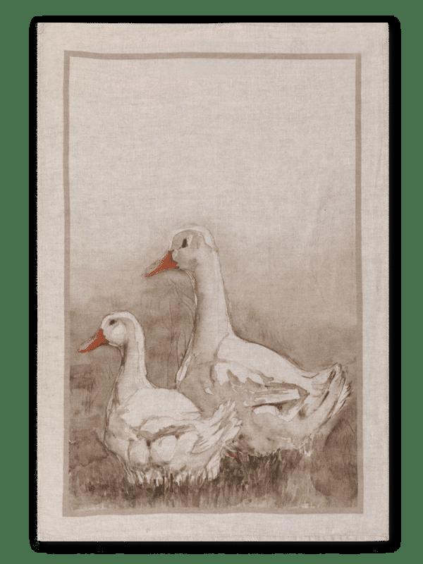 Ducks - Linen Tea Towel - Made in Italy