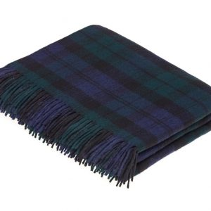 Lambswool Tartan Throw - Black Watch - Bronte by Moon
