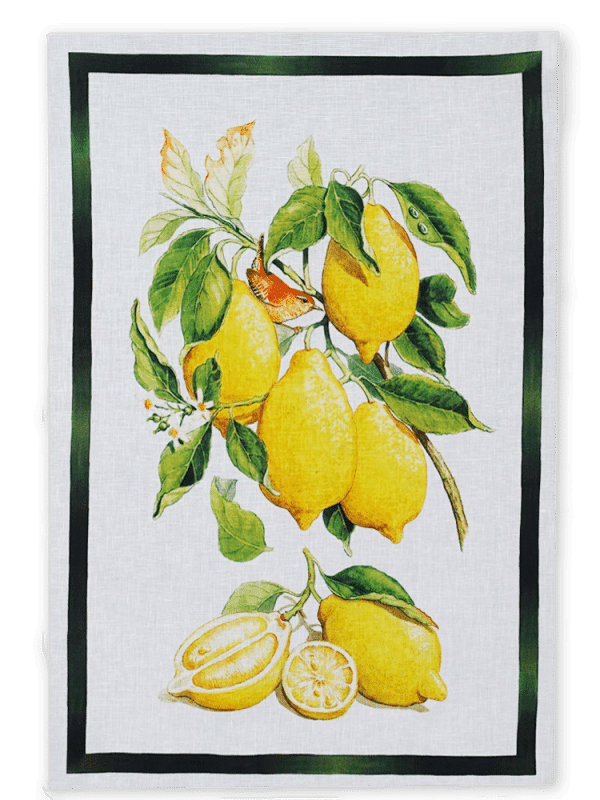 Lemoncello - Lemons - Linen Tea Towel - Made in Italy