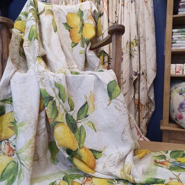 Limoncello Throw/Tablecloth - 100% Linen Made in Italy