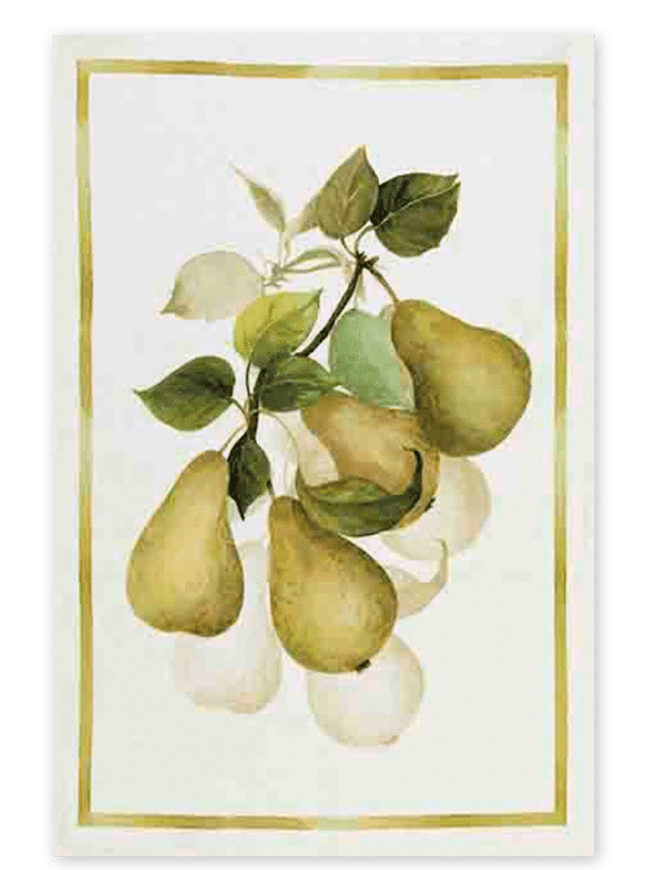 Pears - Linen Tea Towel - Made in Italy
