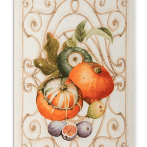 Pumpkin - Orange - Linen Tea Towel - Made in Italy