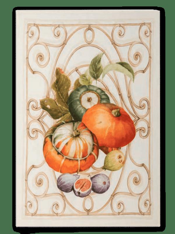 Pumpkin - Orange - Linen Tea Towel - Made in Italy