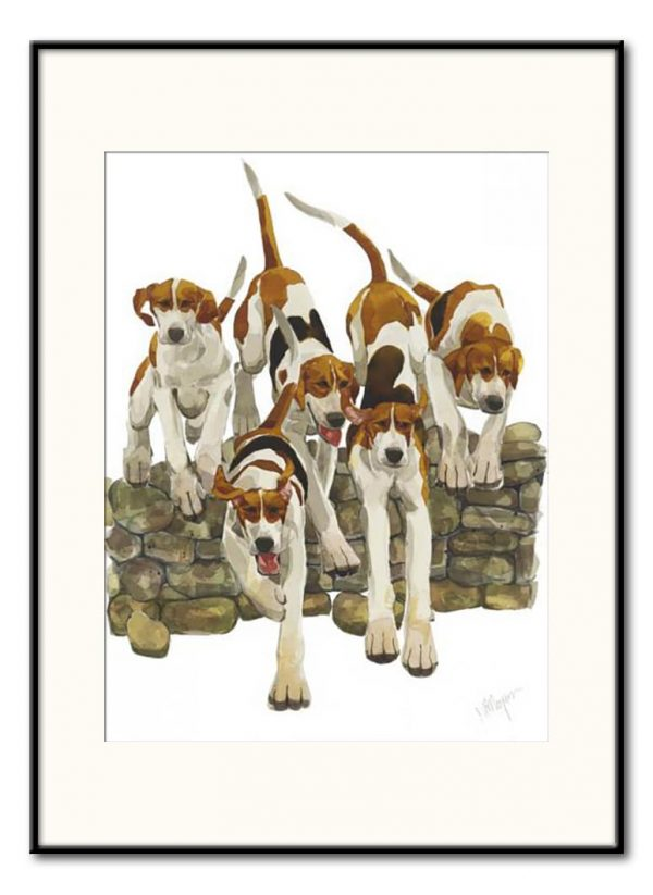 'Scramble' - Signed, Limited Edition Print by Mary Ann Rogers