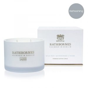 Wild Mint, Watercress & Thyme Scented Travel Candle by Rathbornes of Dublin