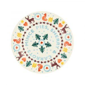 "Emma Bridgewater Christmas Brights 'Mince Pies' 8 1/2"" Plate"