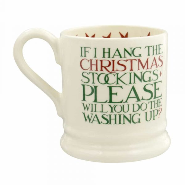 Emma Bridgewater Christmas Toast 'Father Christmas' Half Pint Mug