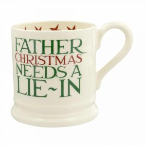Emma Bridgewater Christmas Toast 'Father Christmas' Half Pint Mug