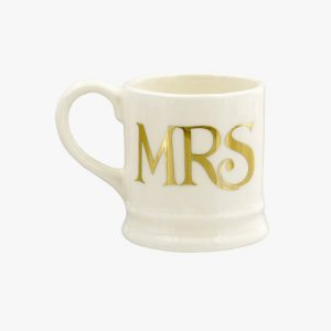 Emma Bridgewater Set Of 2 Tiny Mugs (Gold)