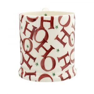 Emma Bridgewater Red All Over 'Ho Ho Ho' Half Pint Mug