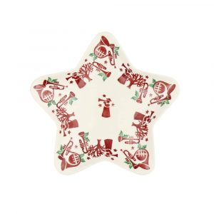 Emma Bridgewater Joy Trumpets Small Star Plate