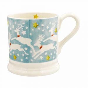 Emma Bridgewater Reindeer In The Sky Half Pint Mug