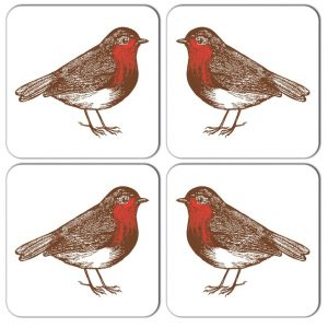 Thornback & Peel - Robin Coaster (set of four)