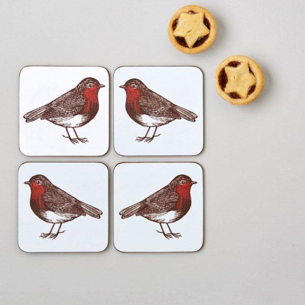 Thornback & Peel - Robin Coaster (set of four)