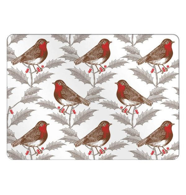 Thornback & Peel - Robin & Holly Placemat (set of four)