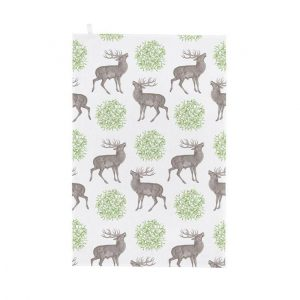 Thornback & Peel - Stag & Mistletoe Tea Towel