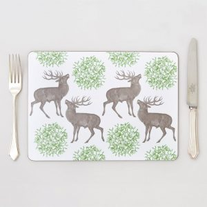 Thornback & Peel - Stag & Mistletoe Placemat (set of four)