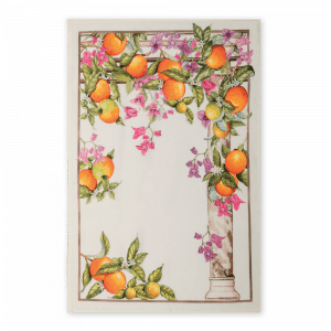 Arancia Oranges Linen Tea Towel Made in Italy