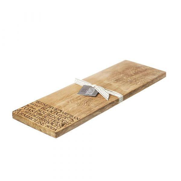 'Bread' Oak Medium Serving Board - Scottish Oak