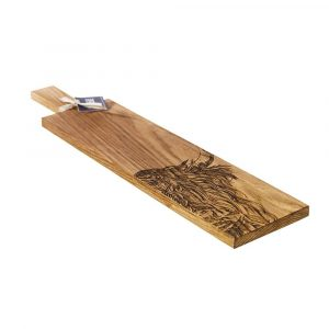 Long Highland Cow Oak Serving Paddle - Scottish Oak