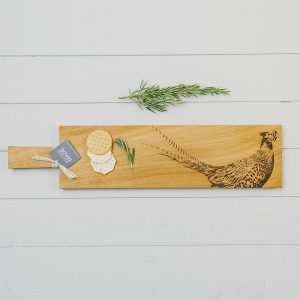 Long Pheasant Oak Serving Paddle - Scottish Oak